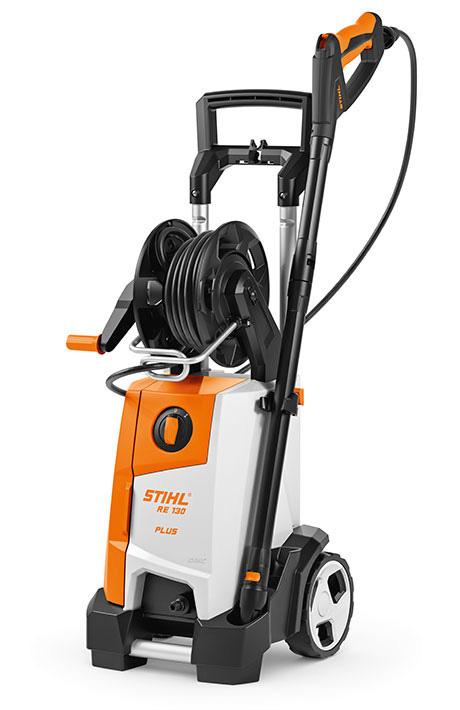 STIHL RE 130 PLUS Puissant nettoyeur haute pression 135-bar avec enrouleur